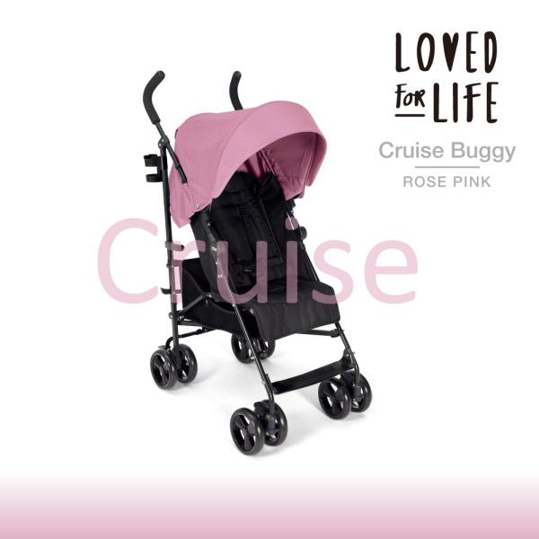 【Mamas & Papas】Cruise 便攜傘車-玫瑰粉