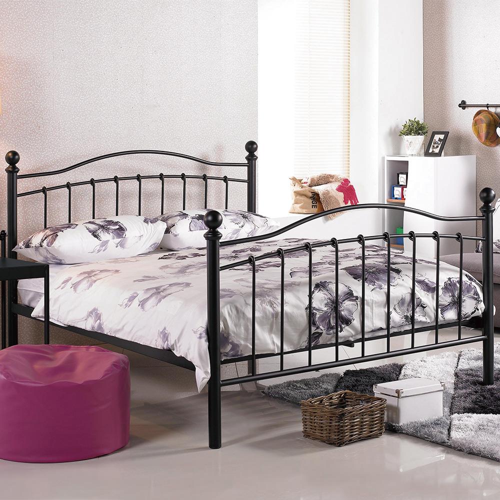 AS-太娜5尺雙人黑色鐵床台/床架