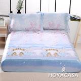 《HOYACASA喵物語》雙人親膚極潤天絲床包枕套三件組