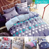 Pure One 台灣製 超厚美肌磨毛 - 加大床包被套四件組-多款任選
