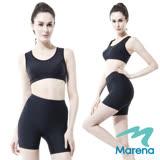 【美國原裝MARENA】魔力輕塑中腰三分塑身褲/顯瘦機能安全褲(黑 膚 白 三色)