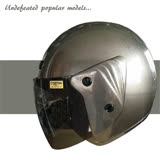 【A-NING 半罩式復古帽】安全帽│抗UV紫外線│自行車捷安特 機車CUXI│台灣製造(灰)