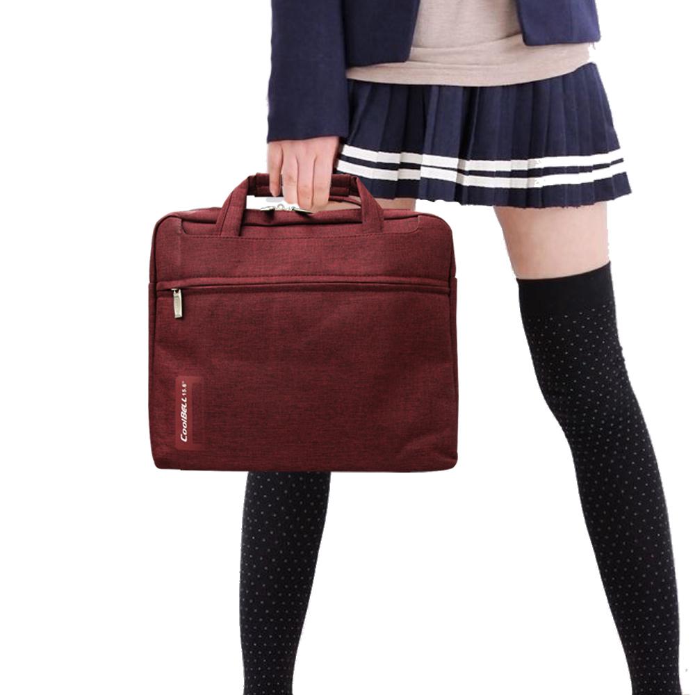 COOL  PS學院風 13.1吋 雙拉鍊防撥水手提肩背兩用平板筆電包 秋楓紅