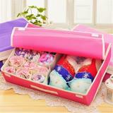香草花園 多功能大容量蕾絲粉彩內衣收納盒