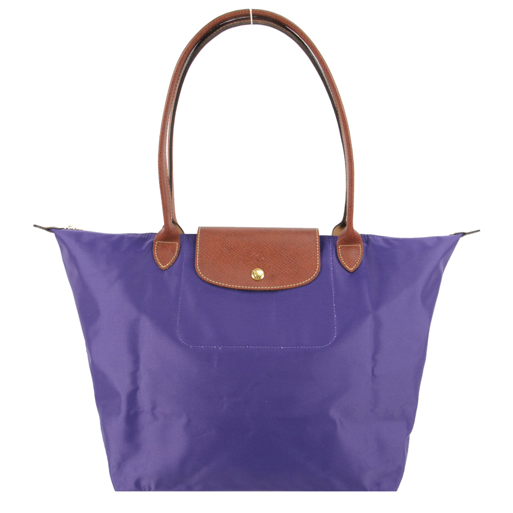 LONGCHAMP Le Pliage 長把摺疊水餃包(大/紫水晶)