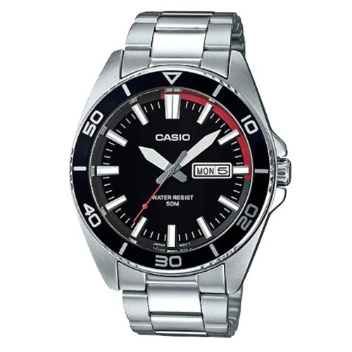 CASIO 卡西歐 G-SHOCK 黑面防水不鏽鋼男錶 MTD-120D