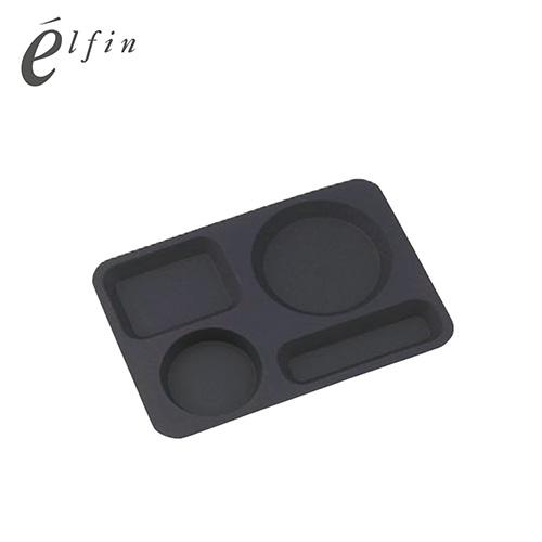 高桑elfin 不鏽鋼咖啡點心托盤~黑
