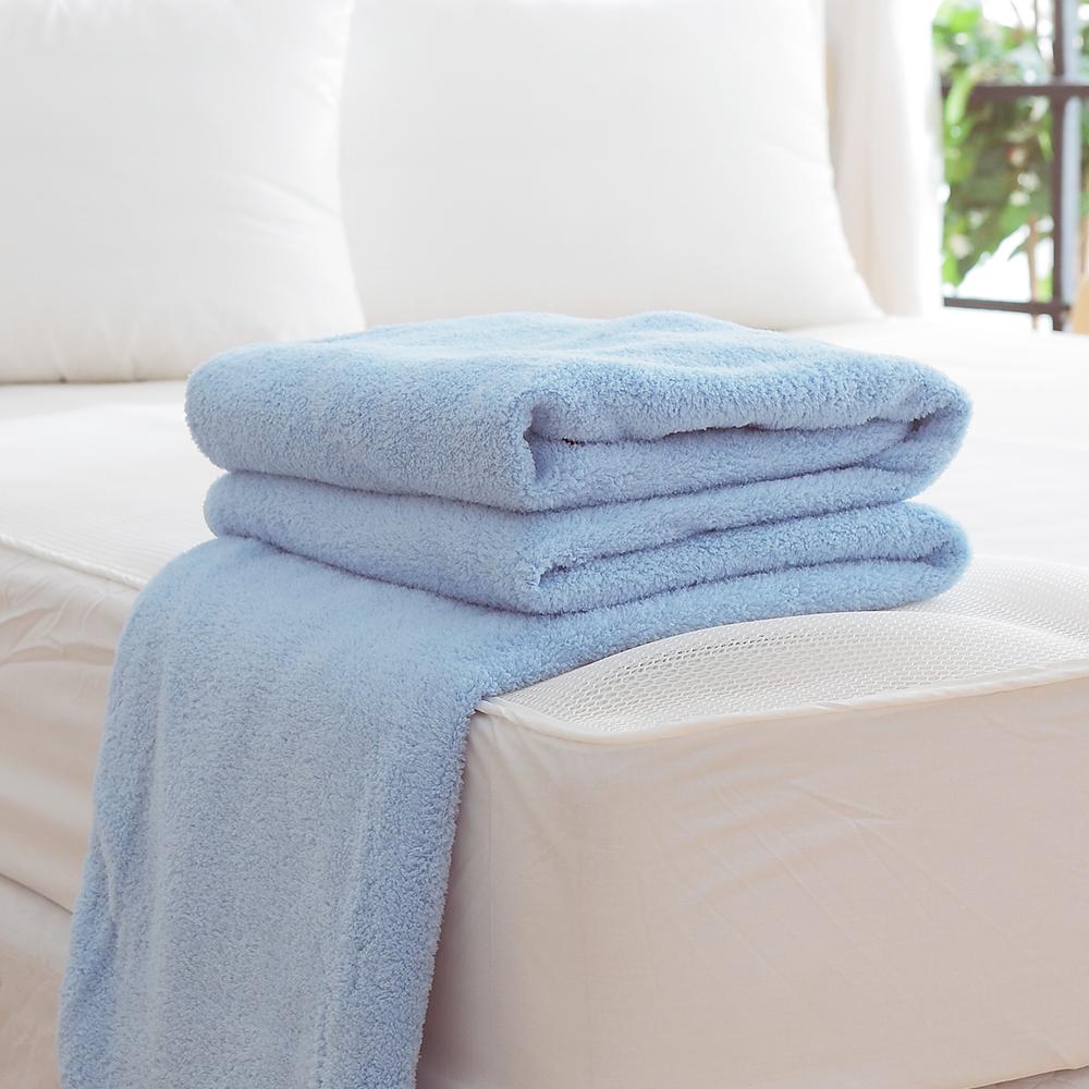HO KANG 吸濕透氣毛巾被 製~藍