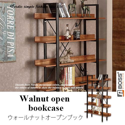 【ABOSS】Aidan 4尺胡桃開放書櫃/書架/層架