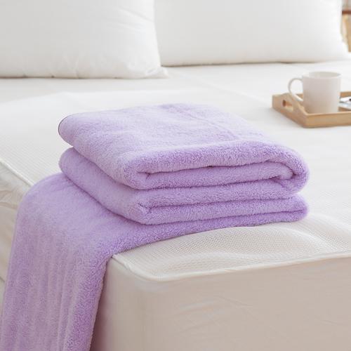 HO KANG 吸濕透氣毛巾被 製~紫