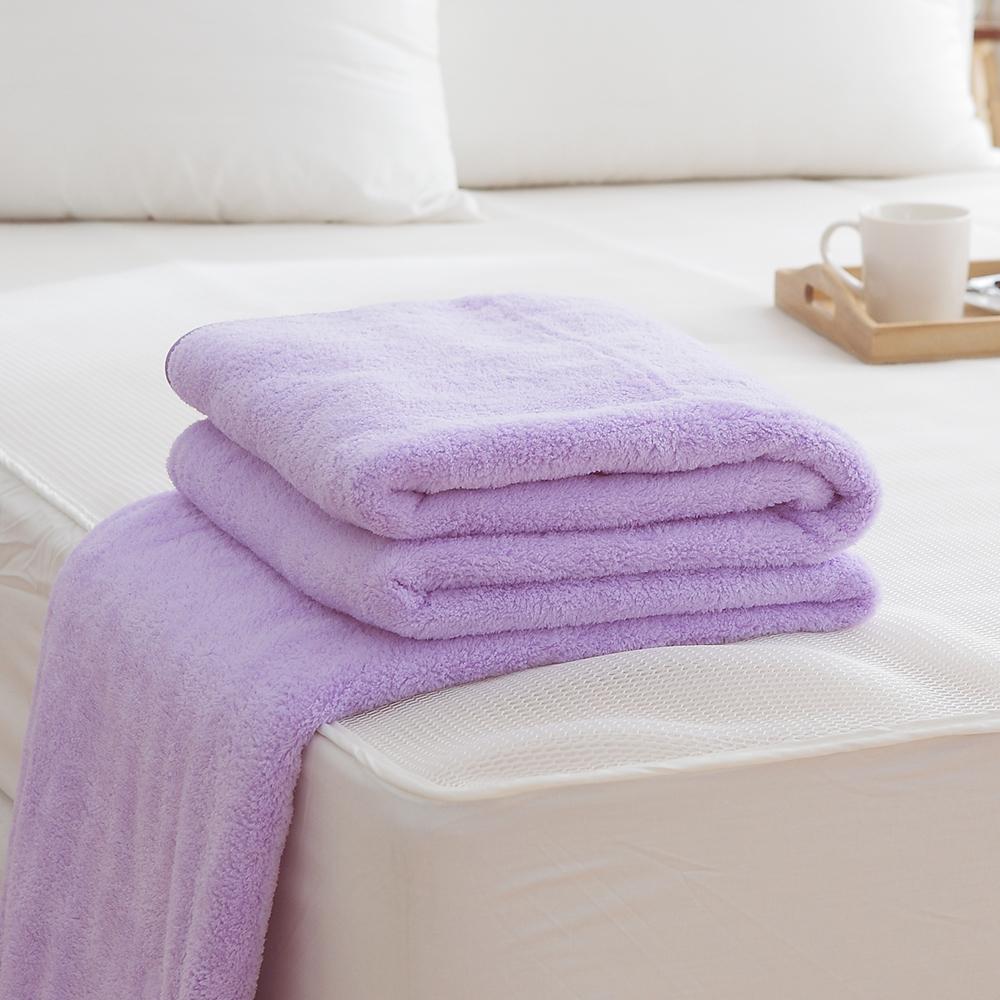 HO KANG吸濕透氣毛巾被 製~紫