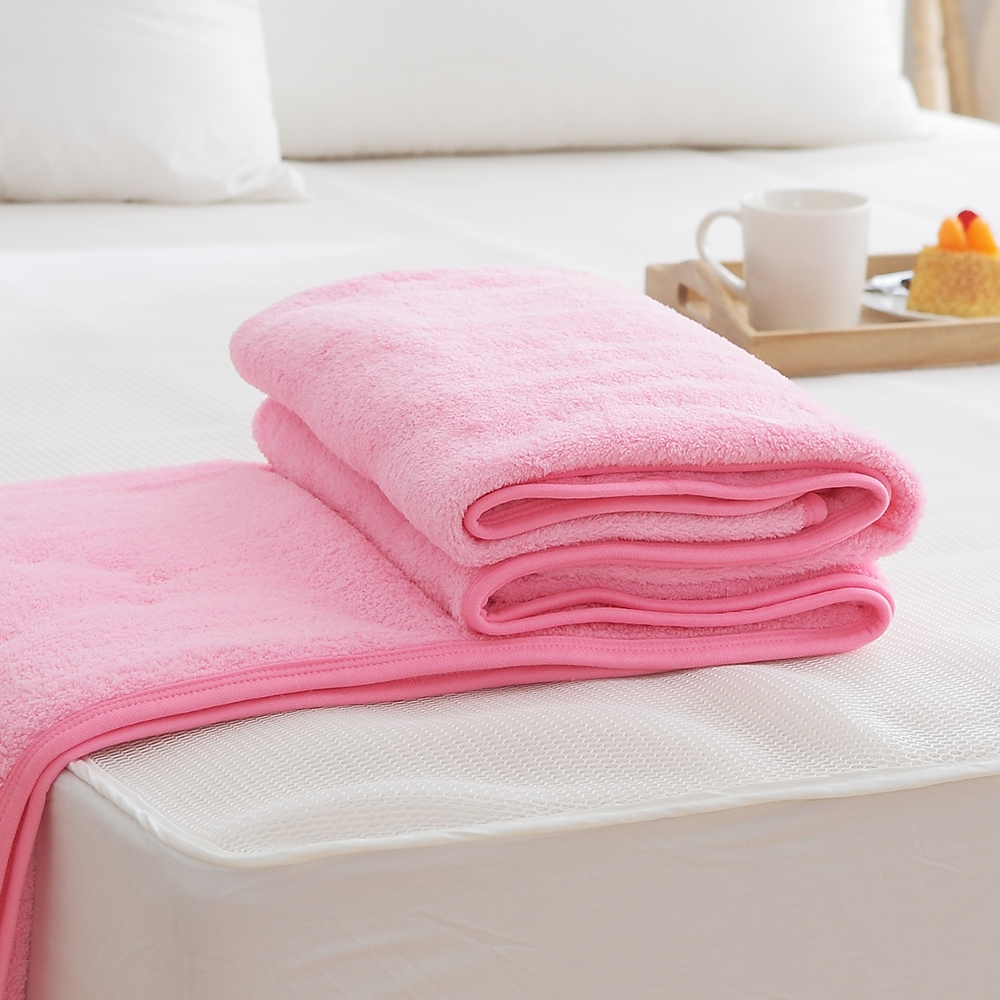 HO KANG吸濕透氣毛巾被 製~粉