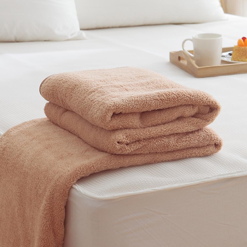 HO KANG吸濕透氣毛巾被 製~咖