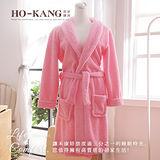 HO KANG 飯店專用睡浴袍-粉-M