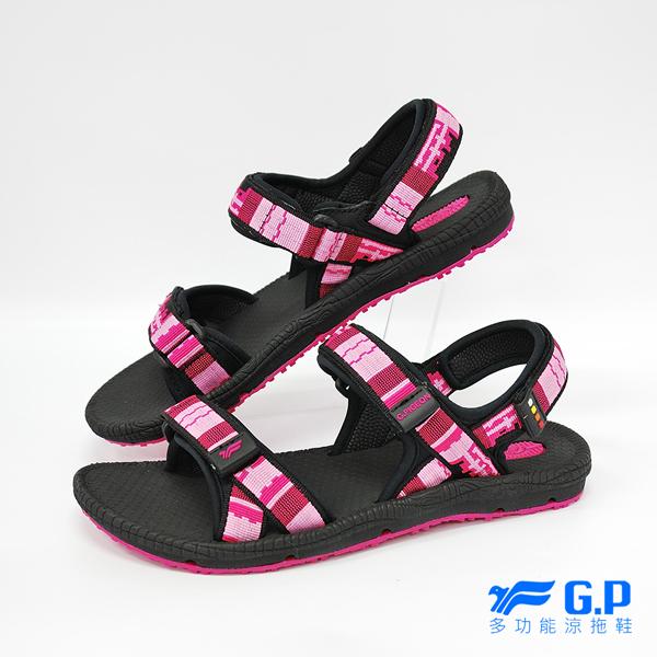 【G.P 女款時尚休閒織帶涼鞋】 G8658W-15 黑桃色 (SIZE:36-39 共三色)