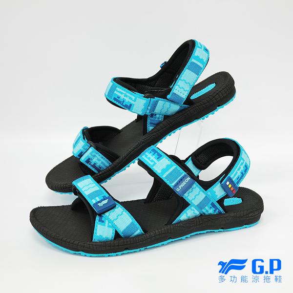 【G.P 女款時尚休閒織帶涼鞋】 G8658W-20 藍色 (SIZE:36-39 共三色)