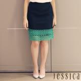 【JESSICA】簡約純真蕾絲造型短裙