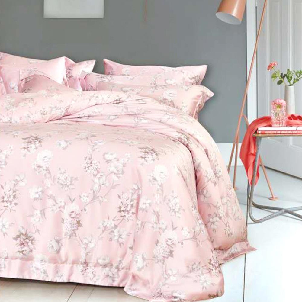 Lily Royal 天絲 四件式兩用被床包組 雙人 櫻花雨(粉)