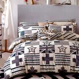 生活提案 純棉涼被床包組四件組-英倫風/雙人