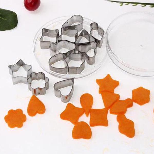 ~PS Mall~不鏽鋼餅乾模具 心型 花型 蔬菜水果切花模具 12件組 烘焙模具  J6