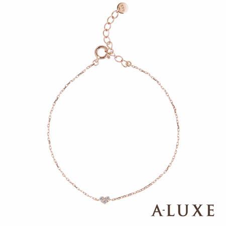 A-LUXE 亞立詩 10K金鑽石手鍊