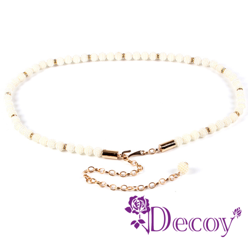 【Decoy】珍珠串鍊*垂墜編織珍珠腰封