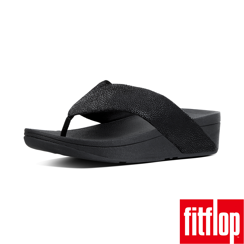 FitFlop™- (女款)SWOOP™ TOE-THONG-黑色