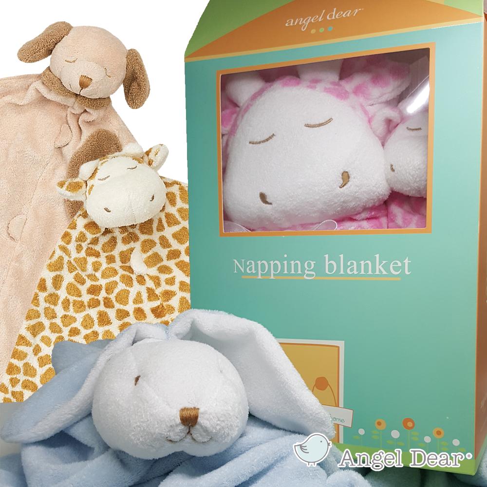 【搶購活動】美國 Angel Dear 彌月小屋禮盒-毛毯+安撫巾-12種款式 (加碼送有機棉襪套)
