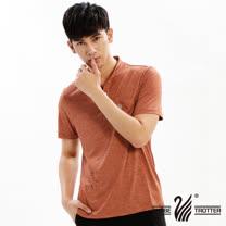 【遊遍天下】男款立領抗UV機能衫GS10021桔色