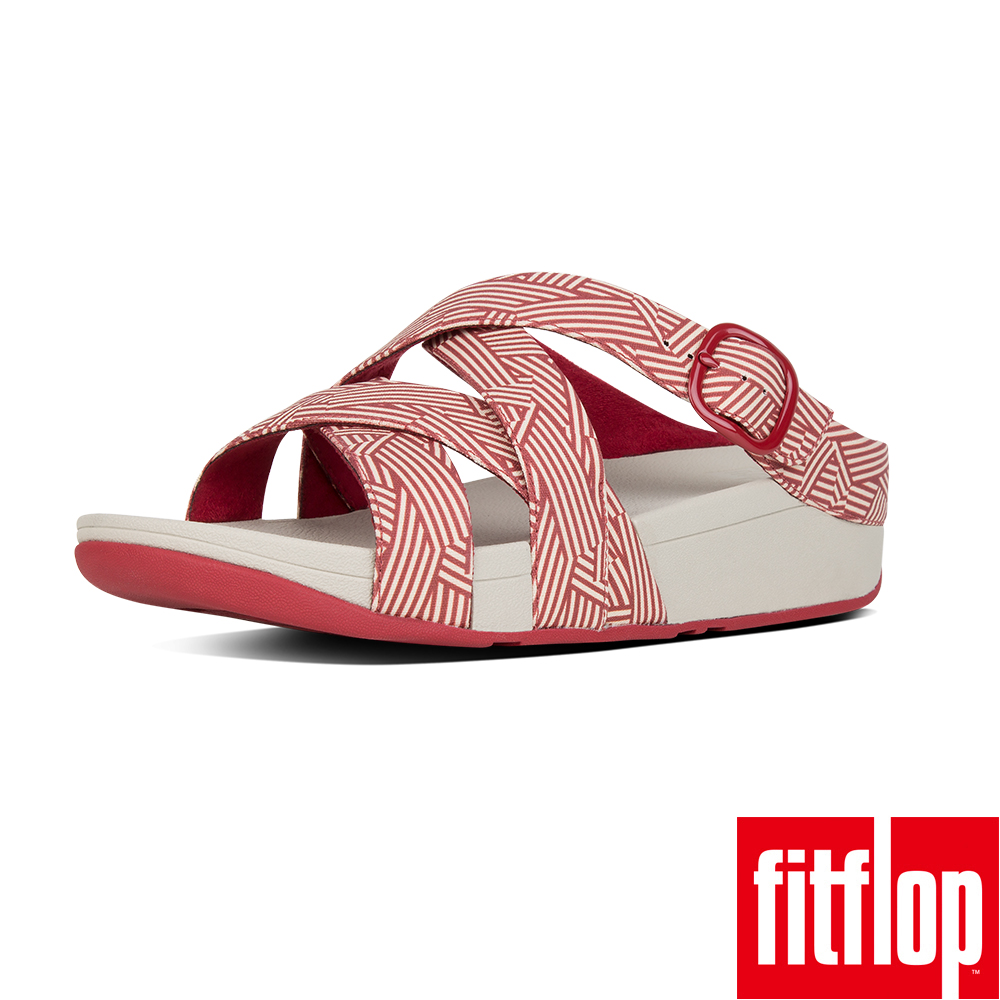 FitFlop™- (女款)THE SKINNY™ CRISS-CROSS CANVAS-紅色