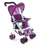 Yip baby 第二代可躺式機車椅推車956-紫色