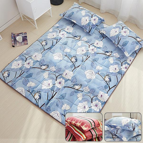 蓄熱保暖雲貂法蘭絨日式床墊(雙人)