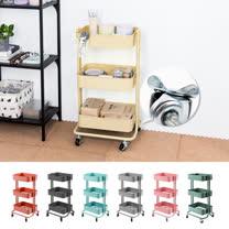 樂嫚妮 第三代好組裝三層收納置物籃推車Storage Cart