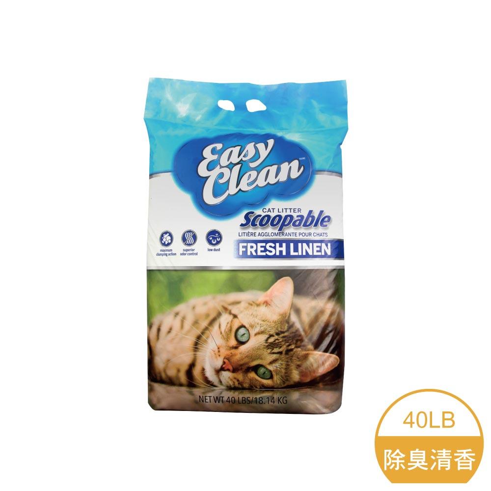 【加拿大原裝進口】沙奇 優質超凝結貓砂-白標(除臭清香)40LB/磅 (G002C15)