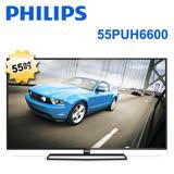 【PHILIPS 飛利浦 新品】6600系列 55吋 4K 55PUH6600 LED 液晶顯示器+視訊盒 含基本安裝