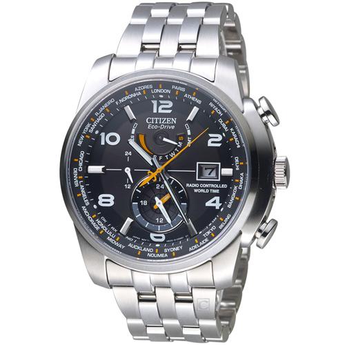 CITIZEN 星辰 GET'S系列 時尚電波腕錶 AT9010-52E