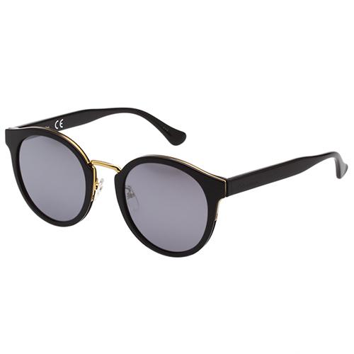 Calvin Klein-水銀面 復古太陽眼鏡(黑色)CK4337SK