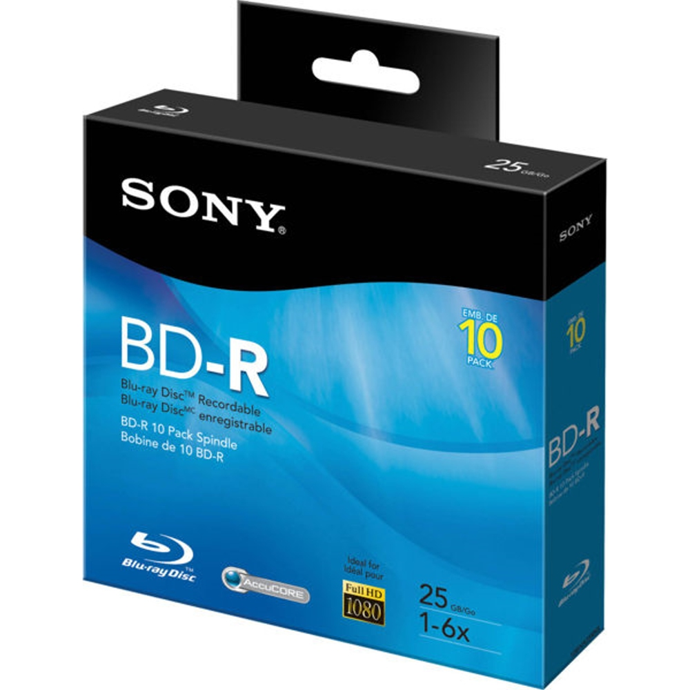 SONY 6X BD~R 25GB 藍光燒錄光碟片 10片布丁裝