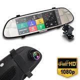 【IS愛思】RV-06XW 7吋GPS智慧導航雙鏡頭後視鏡1080P高畫質行車紀錄器