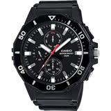 CASIO 卡西歐 DIVER LOOK 潛水運動風手錶-黑 MRW-400H-1AVDF