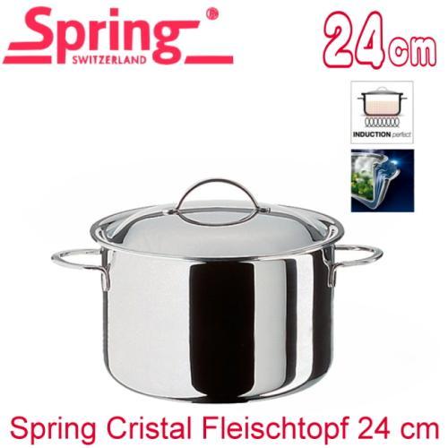 瑞士Spring cristal水晶系列多層複合金高身雙耳燉鍋 24cm