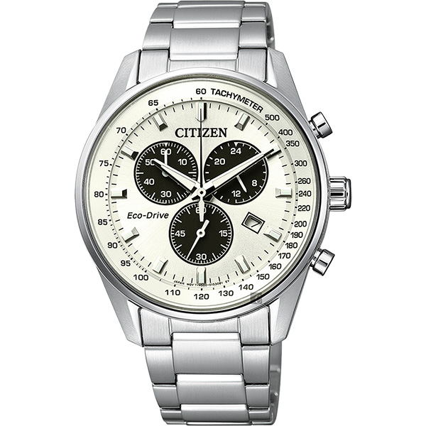 CITIZEN 星辰 Eco-Drive 光動能計時手錶-銀/ 40mm AT2390-58A