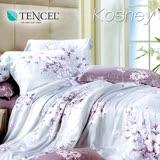 《KOSNEY 愛如潮水》特大100%天絲TENCEL四件式兩用被床包組