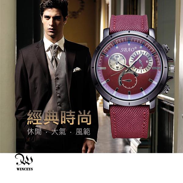 WINCEYS  帆布皮帶石英錶-帆布款