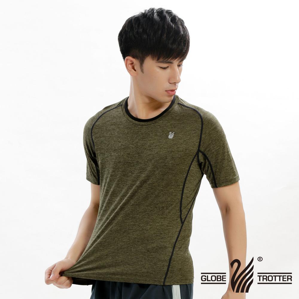 【遊遍天下】男款透氣吸排抗UV速乾圓領衫GS20003灰綠
