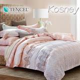 《KOSNEY 格蕾絲》雙人100%天絲TENCEL四件式兩用被床包組