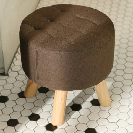 日式圓形實木椅凳