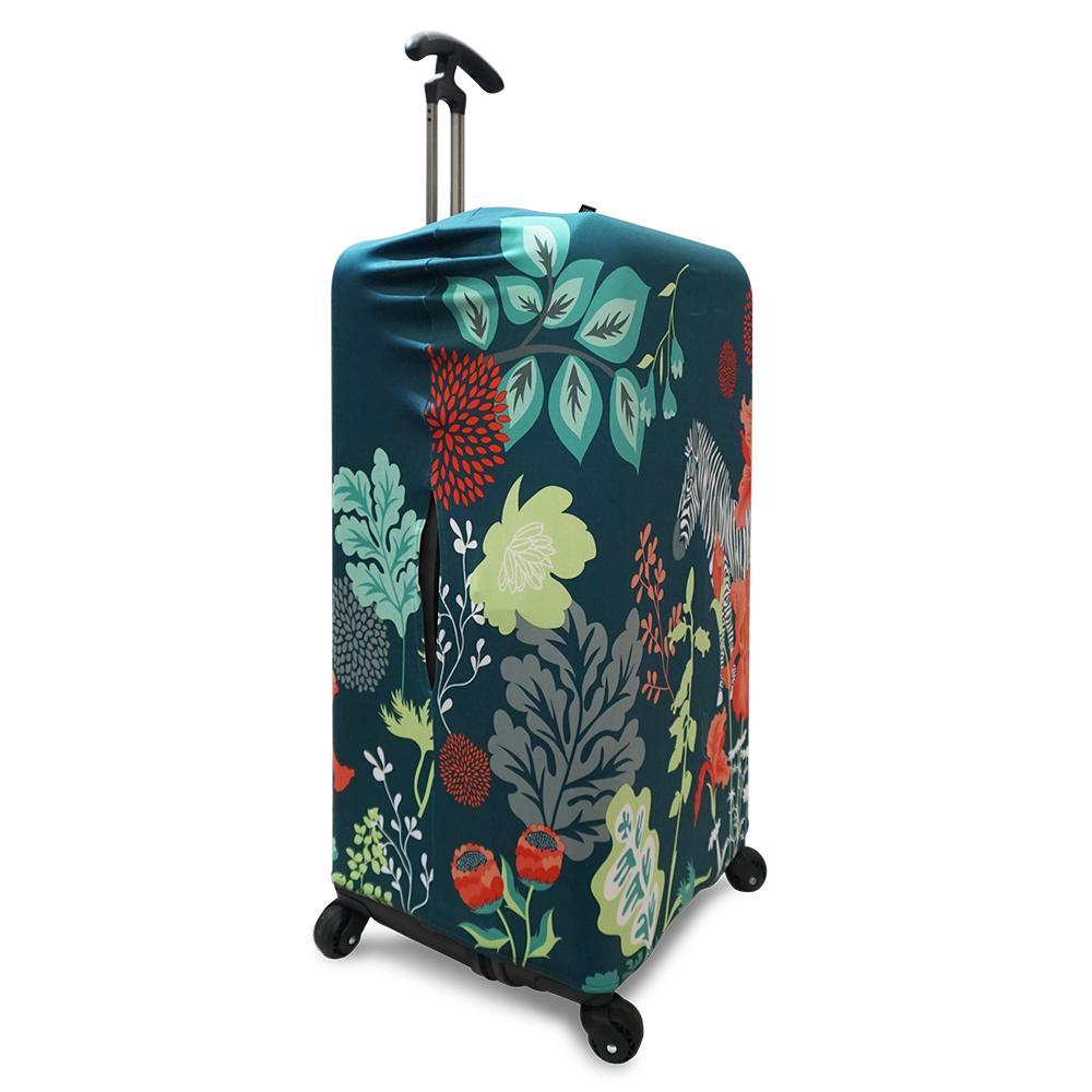 LOQI 行李箱外套|叢林斑馬【XL號】 (適用Sport、冰箱系列行李箱)