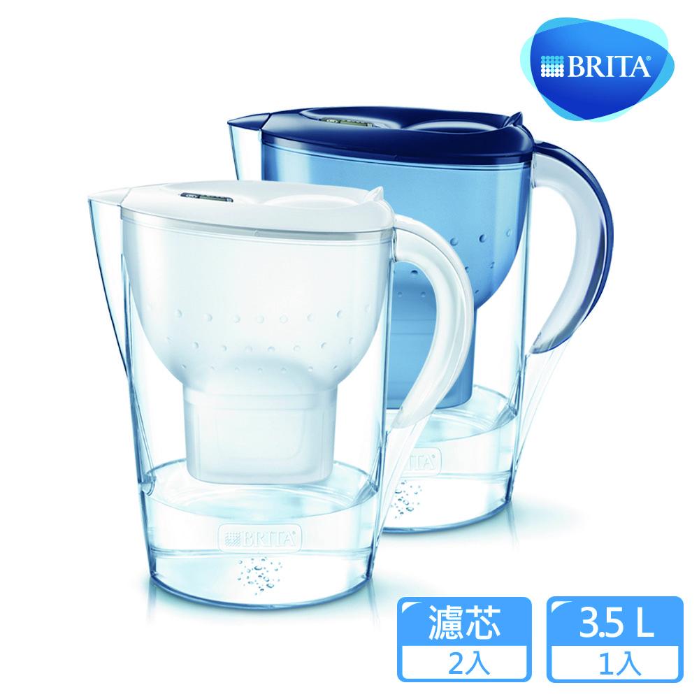 【德國BRITA】3.5公升Marella馬利拉濾水壺+1入MAXTRA Plus濾芯 (共2芯)