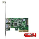 伽利略 PCI-E 4X USB3.1 2 Port 擴充卡(PTU312A)
